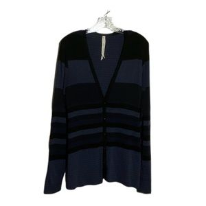 Anthropologie Bailey 44 Blue and Black Cardigan